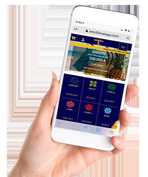 Lotería por móvil app